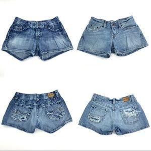 BKE Short Shorts Bundle of 2 Distressed Frayed 27